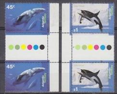 AAT 1995 Whales 2v Gutter  ** Mnh (24749) - Australian Antarctic Territory (AAT)