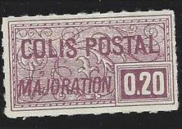 "FR Colis Postaux YT 159 "" Majoration 20c. Lilas "" 1938 Neuf* - Paketmarken"