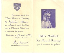 Religion Et Esotérisme-Image Religieuse-Union Mariale Notre-Dame De Beauraing-1955-Chapelain H.Massart-Prière De 1944 - Religion & Esotericism