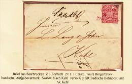 """1 Gr. / 2 Lettres De SARREBRÜCK Annulée Griffe 1- En RO(Pour Cette Série , Tapez """"130504HAVREs"""" Dans Moteur De Recherche - Norddeutscher Postbezirk"""