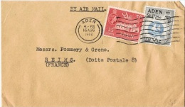L-GB 68 - ADEN N° 52-57 Sur Lettre Par Avion Pour Reims 1962 - Aden (1854-1963)