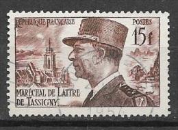 N° 920   FRANCE  -  OBLITERE  - MARECHAL DE LATTRE DE TASSIGNY  -  1952 - Usados