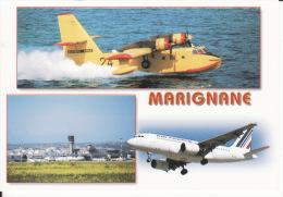13 Aèroport Marseille, Marignane, Avion Air France, Canadair, 2 Scans