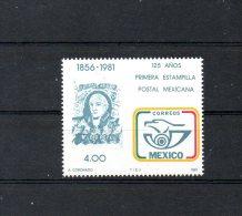 MEXIQUE. N°935 De 1981 (neuf Sans Charnière : MNH). Timbre Sur Timbre. - Stamps On Stamps