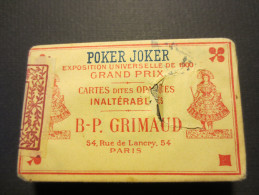 Jeu de Cartes *BP Grimaud * Poker Joker *exposition universelle de 1900 * avec emballage d�origine *