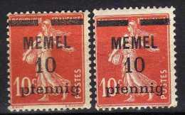 Memel 1920 Mi 19 X + Y * [060915L] - Memelgebiet