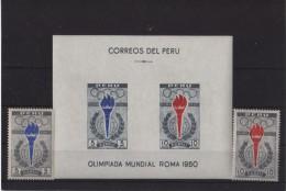 1960 - Peru - JJOO De Roma - Sc C172-73 - HB C 173a - MNH - 3€ - Summer 1960: Rome