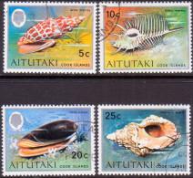 AITUTAKI Cook Islands 1974 SG #102//106 Part Set VF Used Seashells - Aitutaki