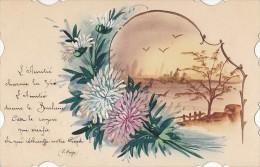 Fantaisies -  Carte Peinte - Poésie Victor Hugo - Fantaisies