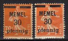 Memel 1920 (Klaipeda) Mi 21 X + Z * [060915L] - Memelgebiet