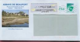 Pap Acep Lettre Verte Abbaye De Beauport 809  -0.15/objet Si Vous Achetez Groupé - Entiers Postaux