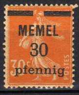 Memel 1920 (Klaipeda) Mi 21 X * [060915L] - Memelgebiet