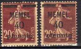 Memel 1920 (Klaipeda) Mi 22 A + B * [060915L] - Memelgebiet