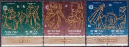 AITUTAKI Cook Islands 1976 SG #200-05 Part Set 2 Stamps Mssing VF Used Christmas - Aitutaki