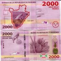 Burundi 2000 2,000 Francs, 2015, P-New, UNC - Burundi