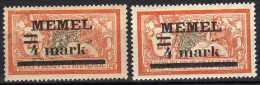 Memel 1920 Mi 31 I X + Y * [060915L] - Memelgebiet
