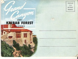 Souvenir Folder Of Grand Canyon And Kaibab Forest, Arizona Cover Is Not Attached To Pictures 14 Photos - Grand Canyon