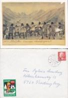 Greenland ROTARY Club Card Artist Aron Kangeq (1822-69) RANDBØL 1981 Cover SYDSLESVIG Vignette Askepot Cindarella - Grönland