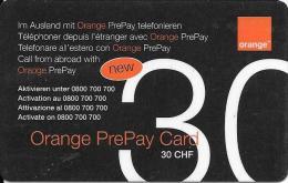 Prepaid: Orange 30 Im Ausland... RS 1 Strichcode - Schweiz