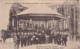 """Inhuldiging Van De Nieuwe Kiosk  Op 1 Aug. 1924 - Harmonie """"De Weergalm Der Maas"""" Van Lanaken - Lanaken"""