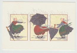 Anne-Odile HUET-HUMEAU - Jour De Pluie. Réf. 37 -  Folklore - - Illustrateurs & Photographes