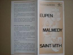 émission D'une Série De Timbres-poste Spéciaux, N°20, 1970, Eupen, Malmedy, Saint-Vith - Belgique