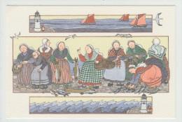 Anne-Odile HUET-HUMEAU - Le Marché Au Poisson. Réf. 30 -  Folklore - - Illustrateurs & Photographes