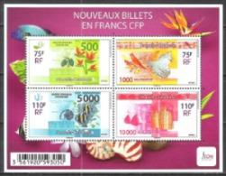 Neukaledonien New Caledonia 2014 Wirtschaft Geldwesen Geldscheine Banknoten Money Cash Bargeld, Bl. 50 ** - Neukaledonien