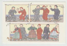 Anne-Odile HUET-HUMEAU - Trois Vieux Copains....leurs épouses. Réf. 35 -  Folklore - - Illustrateurs & Photographes