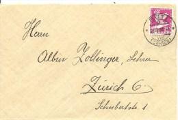 Schweiz  Zu 187, Rollenmarke, Coil, Roulettes,SIGG, Rüti 26.3.1932 Nach Zürich, Siehe Scan ! - Covers & Documents