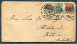 1899 Denmark Gjentofte Cover - Hamilton, Victoria, Australia - Briefe U. Dokumente