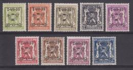 PRE428/PRE436 **, Cote = 210 € (X12468) - Typografisch 1936-51 (Klein Staatswapen)