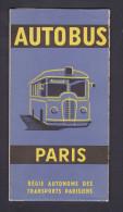 Plan Reseau Autobus Paris Regie Autonome Des Transports Parisiens Nomenclature Lignes Services Soir Nuit - Europe