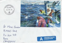 Aland 2015 Mariehamn Fishing Miniature Sheet Cover - Aland