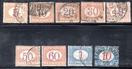 Z1039 - REGNO 1890 , Segnatasse Serie N. 20/28  Usata - 1878-00 Humberto I