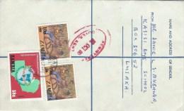 Zambia 1980 Lusaka Rotary 58n Danse Overprint Registered Postal Stationary Cover - Zambia (1965-...)