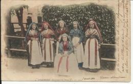 PYRENEES , Costumes Du Pays , 1902 , CPA ANIMEE - Sin Clasificación