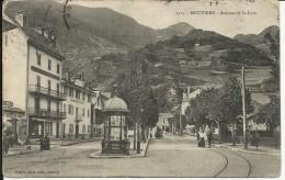 MOUTIERS , Avenue De La Gare , 1908 , CPA ANIMEE - Moutiers
