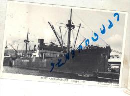 """CPA Carte Photo """" Fort Archambault  """" 1941 M Bar Photo C.M.C.R LE HAVRE Compagnie Maritime Des Chargeurs Réunis - Commerce"""