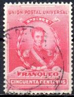 PERU 1896 General De La Mar - 50c - Red  FU - Peru