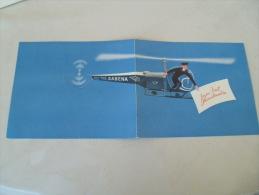 Sabena Compagnie Aerienne Belgique Helicoptere Carte Voeux - Publicités