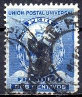 PERU 1896  Pizarro -  2c. - Blue  FU - Peru