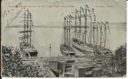 TACOMA , Loading Lumber At One Of The Large Puget Sound Mills , 1908 - Tacoma