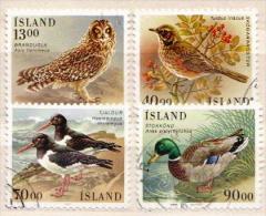 Iceland Used Set - Oiseaux