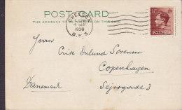 Great Britain CHELSEA 1936 Post Card Denmark Edward VII. Stamp (2 Scans) - Briefe U. Dokumente