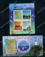 2004 North Korean Territory Of Dokdo Stamps 2M New Scenery Maps Birds 0108 - Korea (Nord-)