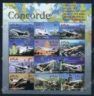 Maldives 2004 Concorde Stamp Sheets 1 New 0312 Edition - Maldive (1965-...)