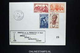 SENEGAL Creation De La Federation Du Mali - Senegal (1887-1944)