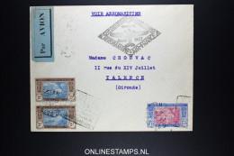 Côte D'Ivoire Lettre Aéromaritime Air France Pour France Premier Voyage  De 1937 - Côte-d'Ivoire (1892-1944)