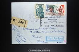 SENEGAL 1925 - 1950 DAKAR - CASABLANCO RABAT MAROC. R LETTRE - Senegal (1887-1944)